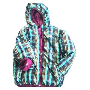 Reversible Girls North Face Winter Jacket